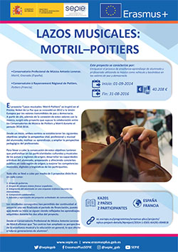 LAZOS MUSICALES: Motril - Poitiers